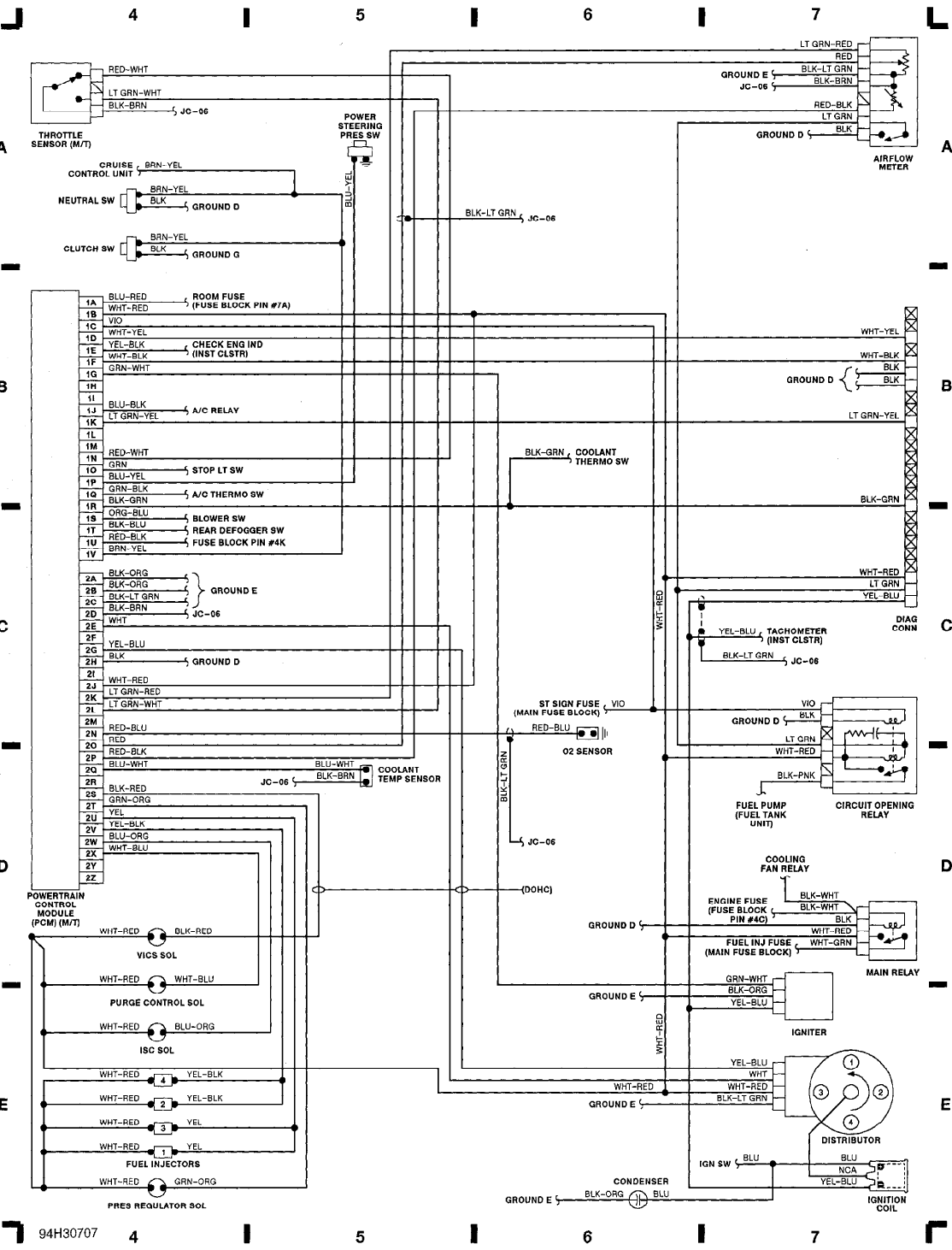 1990 hyundai sonatum wiring diagram