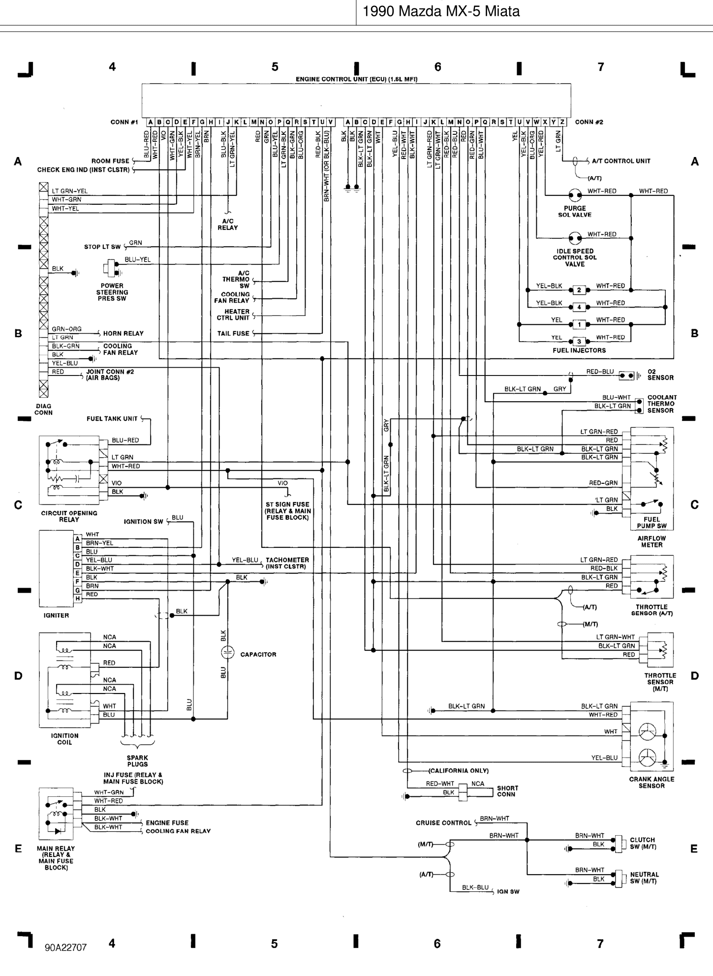 1990 miata engine diagram  diagrams  auto parts catalog
